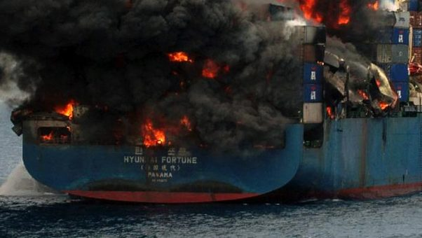 נזק בהיקף של 590 מיליון אירו בשריפה שפרצה במספנה גרמנית