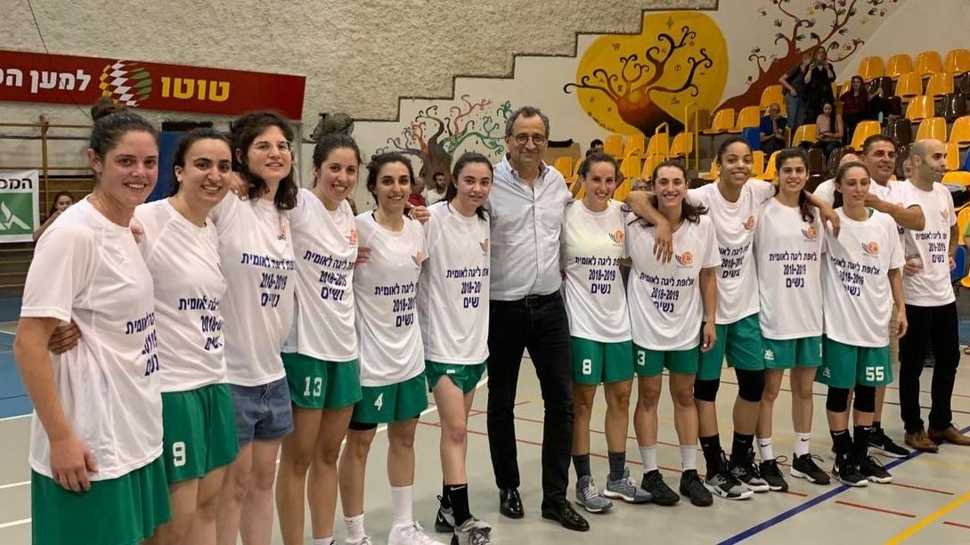 """מכבי חיפה נשים, בהנהגת יו""""ר איאון ישראל אילן בק, העפילה לליגת העל בכדורסל"""