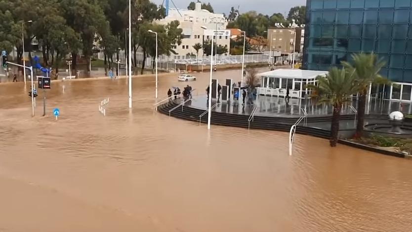 אחרי הסערה: נזקים של 300 מיליון שקל: עיריית נהריה מבוטחת באיילון