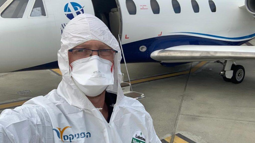 הפניקס השיבה ארצה בטיסה מיוחדת את אלמנת התייר הישראלי שנפטר מקורונה בצפון איטליה