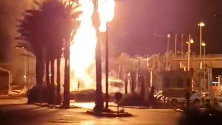 ק.ש. הינה המבטחת של מיכלית הגז של חלד שנשרפה הלילה בחוצות המפרץ