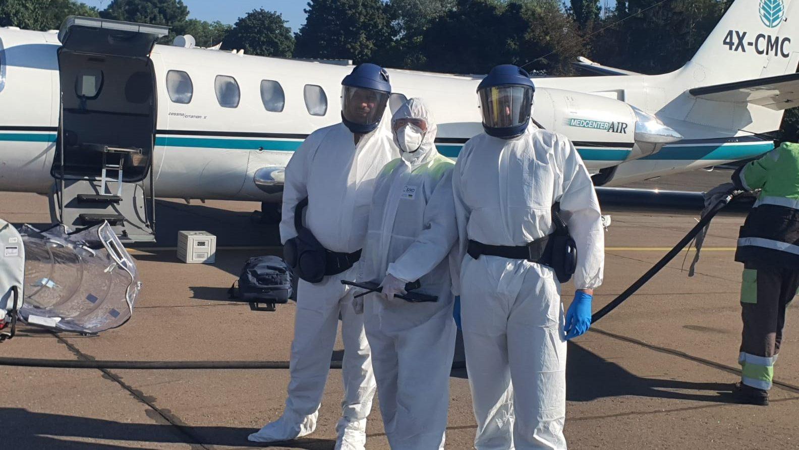 כלל ביטוח ביצעה טיסת חילוץ בראש השנה (ג') לאומן, למבוטח שנמצא חיובי לקורונה